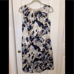 ** NWT ** Ann Taylor Ivory Blue Floral Print Dress
